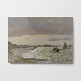 The Seashore at Sainte-Adresse Metal Print