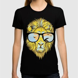 Cool Hipster Lion with Sunglasses T-shirt