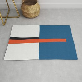 Blue and red composition XVII Rug