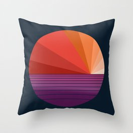 Yeah, Baby - abstract retro 70s minimal sunset sunrise socal cali beach life 1970's Throw Pillow