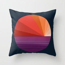 Yeah, Baby - abstract retro 70s minimal sunset sunrise socal cali beach life 1970's Throw Pillow