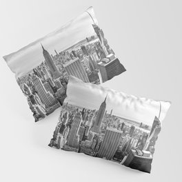 New York City Cityscape (Black and White) Pillow Sham