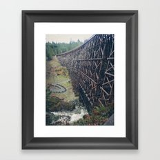 Largest Trestle in the Commonwealth Framed Art Print