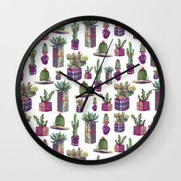 Pcket cactus Wall Clock