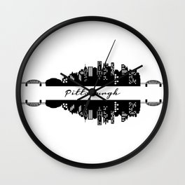 Pittsburgh Skyline Wall Clock