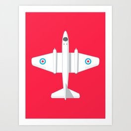 Canberra Jet - Crimson Art Print