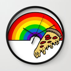 pizza rainbow Wall Clock