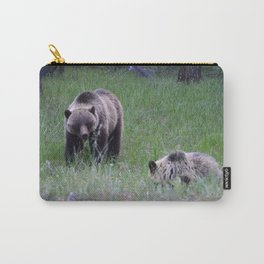 Grizzly mother & cub in Jasper National Park | Canada Carry-All Pouch