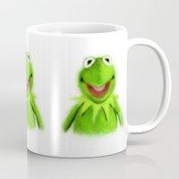 kermit Mugs featuring Kermit by KitschyPopShop