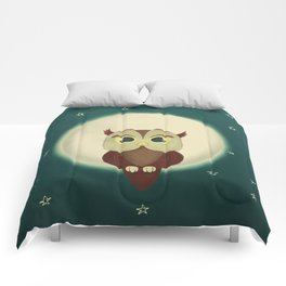 Owl by night Comforters