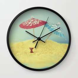 Doggy island Wall Clock