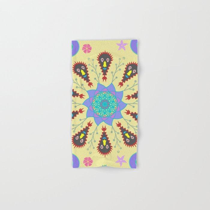 Monster Mandala Hand & Bath Towel
