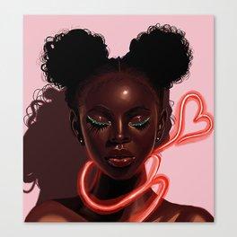 Melanin X Neon Canvas Print