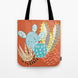 Terracotta Cacti Tote Bag