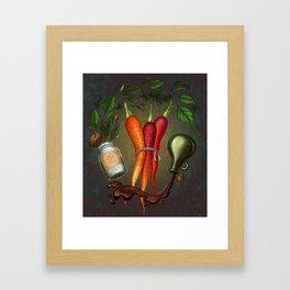 Balsamic Roasted Heirloom Carrots Framed Art Print