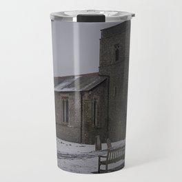 Dunkirk Church In Winter Travel Mug