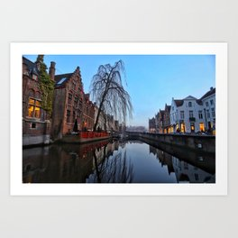Belgium, City Canal 5 Art Print