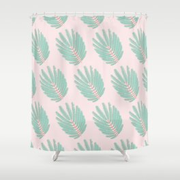 Twice-Pinnate Leaf Pattern Shower Curtain