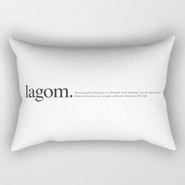 Lagom -Wiki Rectangular Pillow