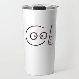 Cool. Black and pink logo. Travel Mug
