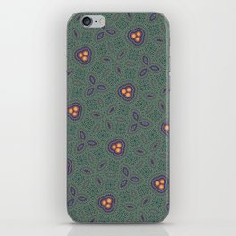 Bohemian Peacock and Leaf Thread Weave Pattern \\ Yellow Green Blue Purple Color Scheme iPhone Skin