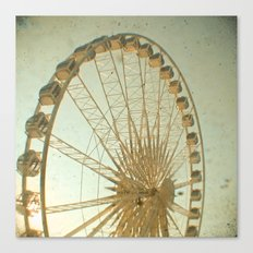 Golden Wheel Canvas Print