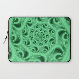 Fractal Web in Flourescent Green Laptop Sleeve