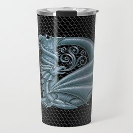 Dragon Letter D, from Dracoserific, a font full of Dragons. Travel Mug