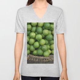 Lemon Basket Asia Food Market #society6  Unisex V-Neck