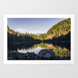 Shadows and Reflections at Lake 22 Art Print