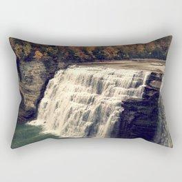 Waterfall in autumn Rectangular Pillow