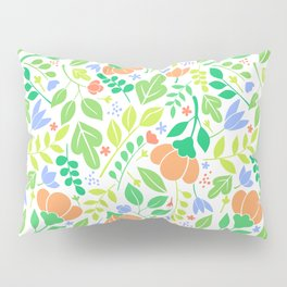 Lacy Floral Color Pattern Pillow Sham