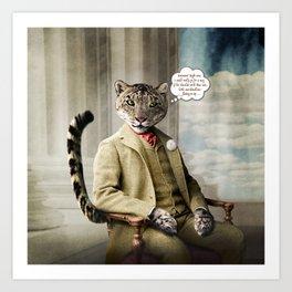 Sir Sebastian Snow Leopard Art Print