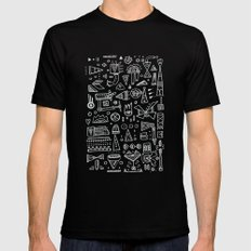 Triangle doodles Mens Fitted Tee MEDIUM Black