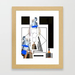 Mix Graphic Classical Statue Framed Art Print