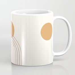 Mid Century Modern Geometric 36 in Terracotta Gold Beige Coffee Mug