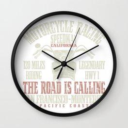 Retro California Biker Classic Vintage Motorcycle Gift Wall Clock