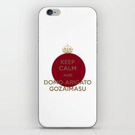 Snapbacks domo arigato gozaimasu iPhone Skin
