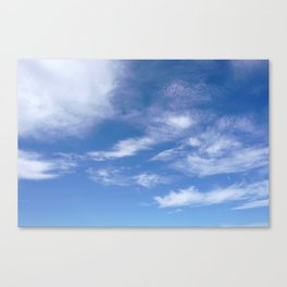 Blue Sky with Clouds Photograph Canvas Print