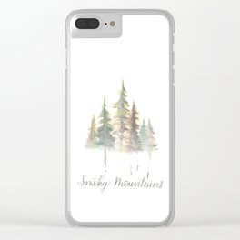 Smoky Mountains Watercolor Clear iPhone Case