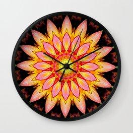 Kaleidoskop Blume Wall Clock