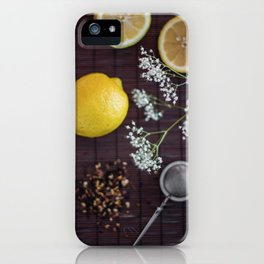 Lemon and tea iPhone Case