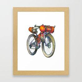 November Backpacker Framed Art Print