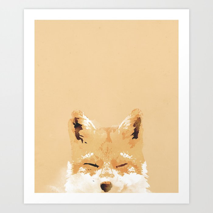 Discover the motif SMILING FOX by Robert Farkas as a print at TOPPOSTER