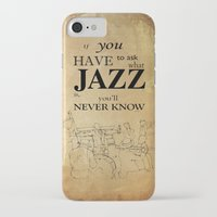 louis armstrong iPhone & iPod Cases featuring Louis Armstrong Quote by Larsson Stevensem