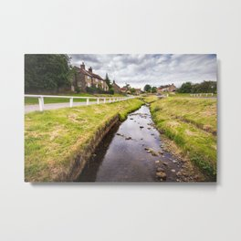 Hutton Beck runs through Hutton-le-hole in Yorkshire, England Metal Print