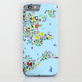 Animal Map of the World iPhone Case