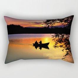 Sunset Fishing Rectangular Pillow