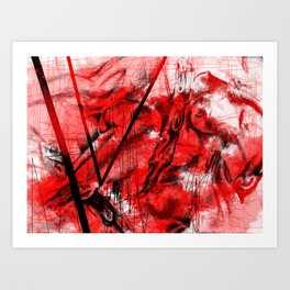 Red Passion  Art Print