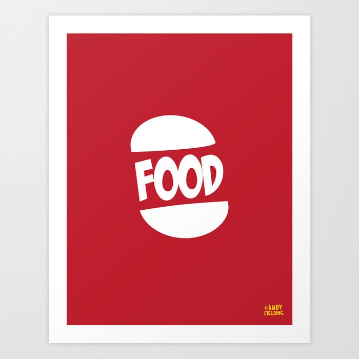 FOOD logo fun generic food logo Art Print